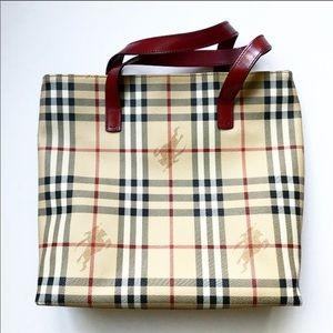 Burberry Haymarket Nova Check Tote Bag